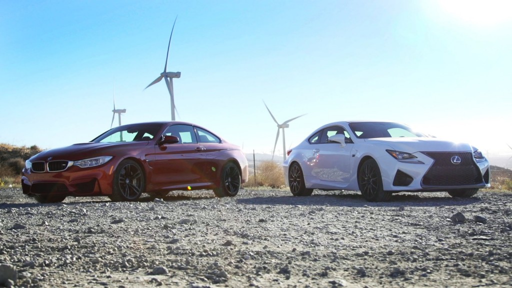 BMW M4 vs 5 Lexus RC